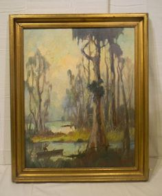 PNT-011 Painting by Knute Heldner | Plantation Antique Galleries — 604 Bel Air Blvd., Mobile AL 36606 — (251) 470-9961