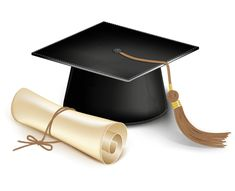 Illustration of Graduation cap and diploma. Vector vector art, clipart and stock vectors. High School Graduation, Graduation Photos, Graduation Cards, Graduate School, Graduation Leis, Graduation 2016, Law School, Afrique Art, Material Didático