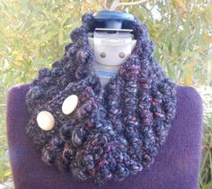 Crochet Neck Warmer by EagerHandsGiftShop on Etsy