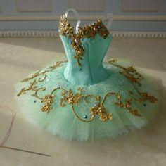 A miniature tutu handmade/ Miniature Ballet Costume Gift Idea for Nutcracker Ballet Noel
