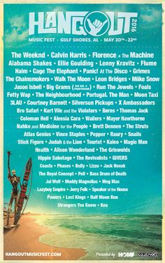 I think I will just keep flip-flopping btwn Bonnaroo and HangoutFest! Hangout Music Festival 2016 Lineup