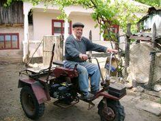 Homemade Tractor (family member in romania)