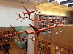 """Instalación """"A vuelo de tinta"""" en la Biblioteca José Vasconcelos, Fondo José Luis Martínez"""