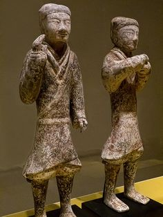 Figures found in the Yangjiawan Tombs at Xianyang, Shaanxi Province China Western Han Dynasty mid-2nd century BC Earthenware.