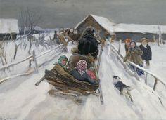 Степанов А.С. Катание на Масленицу. 1910