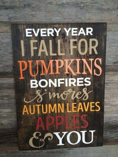 Fall Sign Fall Wood Sign Fall Decor Thanksgiving by RSBRCustoms