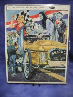Puzzle of the Drag-u-la car that was built by George Barris for the Munsters TV series. Munsters Tv Show, The Munsters, Munsters Theme, Horror Movie Characters, Horror Movies, Cool Car Drawings, Black Sheep Of The Family, Herman Munster, Frame Tray