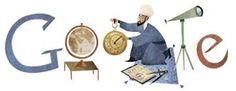 Nasir al-Din al-Tusi 's Birthday - Google Gif, Logo Google, Art Google, Doodle Images, Doodle Designs, Science Doodles, Science Art, Google Banner, Google Doodles