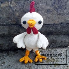 Finnaly I can share this amigurumi rooster pattern to you...  Don't forget to like my Facebook page Zan Amigurumi  and follow my Instagram z...