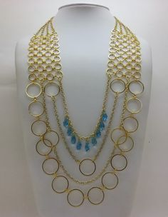 "Layered Statement Necklace - ""Cleo"" Beadalon : Quick Links, Chain and Swarovski Crystals"