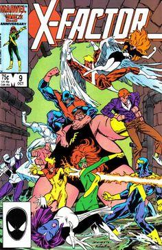 X-Factor Series) 9 Marvel Comic books modern age cover X-men Mutants Marvel Comics, Marvel Comic Books, Comic Books Art, Marvel Avengers, Book Cover Art, Comic Book Covers, Book Art, Dc Universe, Vintage Comics
