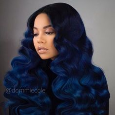 Bomb color and curls
