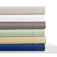 Elle 300 Thread Count 100% Cotton Sheet Set Size: California King, Color: Pale Sage