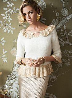 Ravelry: #05 Keyhole Peplum Pullover pattern by Carolyn Noyes