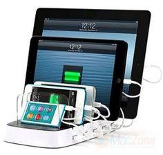 Griffin Technology PowerDock 5 - nabíječka a stojánek až pro 5 přístrojů Phone /iPad