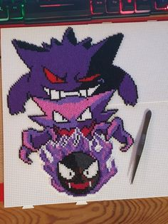 Spooky Bois - New Ideas Hama Beads Pokemon, Diy Perler Beads, Perler Bead Templates, Perler Patterns, Perler Bead Mario, Pokemon Cross Stitch, Modele Pixel Art, Art Perle, Hama Beads Design