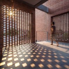 Sections of perforated brickwork set into the walls of this Bangkok residence…