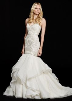 Hayley Paige Sweetheart Fit and Flare in Silk Organza | KleinfeldBridal.com