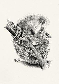 Buddha of the Bush - Giclée Print – Marini Ferlazzo - Art for wildlife conservation