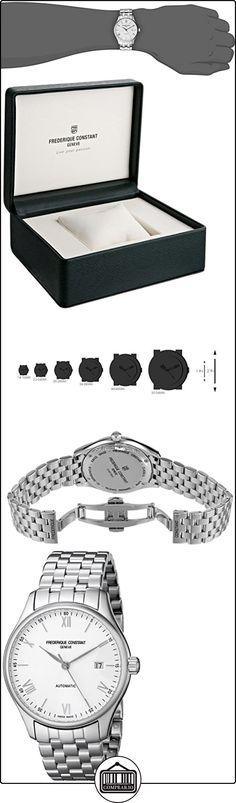 Frederique Constant FC303WN5B6B - Reloj para hombres, correa de acero inoxidable color plateado de  ✿ Relojes para hombre - (Lujo) ✿