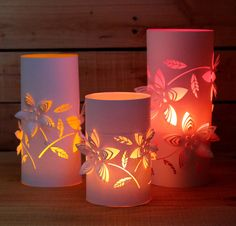easy to make lanterns with colored glow! download free template and add some magic to your evening gatherings!