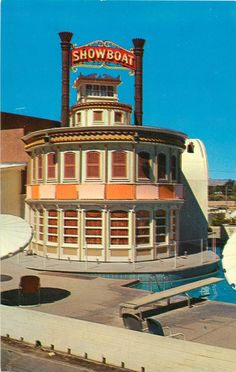 View of the Showboat pool.  Las Vegas