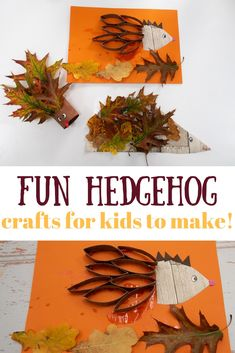20 Autumn Leaf Activities for Kids - Thimble and Twig Fun Hedgehog Crafts autumn crafts and activities for kids. Hedgehog crafts that kids will love! Science experiments, Autumn leaf crafts lots of seasonal Autumn or Fall activities that kids will love! Creative Activities For Kids, Autumn Activities For Kids, Animal Crafts For Kids, Crafts For Kids To Make, Creative Kids, Toddler Crafts, Kids Crafts, Preschooler Crafts, Autumn Leaves Craft