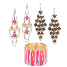 Love the colorful earrings