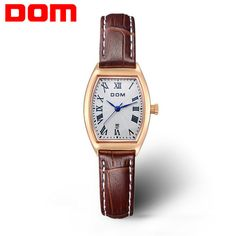 2016 New DOM watch women fashion luxury watches brand Wrist watches casual genuine leather band quartz watch women montre femme  #men #me #fashion #women #smartwatch #wallets #newarrivals #money #bags #selfie #photooftheday #groom #style #kids #gift