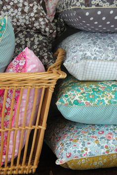 Liberty pillows....I love Liberty Tana Lawn fabrics
