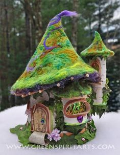 Reuse Renew Mother Earth Projects: How to make Fairy Houses from Recycled Materials !Recycle Reuse Renew Mother Earth Projects: How to make Fairy Houses from Recycled Materials ! Fairy Garden Houses, Garden Art, Fairy Gardens, Fairies Garden, Garden Ideas, House Gardens, Miniature Gardens, Miniature Houses, Garden Inspiration