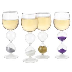 Wineglasses with an hourglass in them. GET DRINKING!