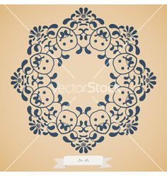 Floral Frame vector by tiff20 on VectorStock®