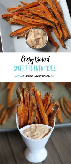These healthy Crispy Baked Sweet Potato Fries are easy to make and are the perfect side dish. Vegan, gluten free and perfect treat while keeping you on track with your sports and nutrition goals.