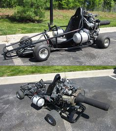 Go-Kart Powered by a Boeing Jet Engine Can Hit 100 MPH  ....nope...this is NOT smart...this is a problem waiting to happen....but in concept...pretty cool!