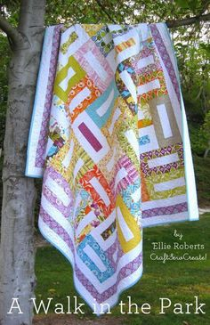 Free Quilt Pattern: A Walk in the Park - I Sew Free