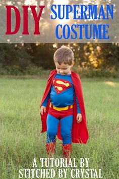 I have another overdue tutorial to share today! Although, with Halloween coming… I have another overdue tutorial to share today! Although, with Halloween coming up, maybe this tutorial and last weeks fireman coat tutori… Diy Baby Costumes, Toddler Costumes, Family Halloween Costumes, Boy Costumes, Super Hero Costumes, Halloween Dinner, Dance Costumes, Superman Party, Costumes