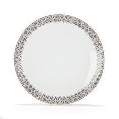 Assiette plate en grès avec motifs géométriques bleus Bleu - Aoki - Les assiettes plates - Assiettes - Arts de la table - Décoration d'intérieur - Alinéa