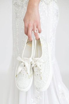 102f6c872959 Brides! Kate Spade and Keds Just Released Comfy Wedding Sneakers — Shop  Them Now