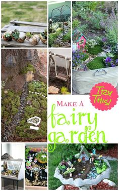 Make a Fairy Garden! What a great way to create some fun in your garden. Kids will love this too!