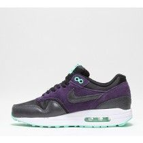 innovative design 214f4 64b67 Nike Womens Air Max 1 Essential Trainers Black Anthracite Purple Turquoise   l5eB9