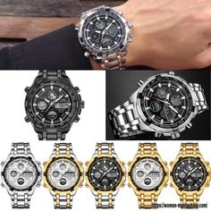 It's hard to resist this GH Military Sport Watch ⌚😍 Get 30% OFF Use Code: SPRING20 Claim yours here => buff.ly/32QN8Rv  7 Variants ⌚ It is Ideal for you or to make a gift 🎁  #womenmanfashion #summer #fathersday #spring #cool #fashion #beautiful #cute #style #fitness #travel #lifestyle #women #men #boys #gift #sea #gym #watch #military #sportwatch #yoga #sport #NFL #NBA #MLB #bestfriend Sport Watches, Watches For Men, Ml B, Make A Gift, Stainless Steel Watch, Nba, Quartz, Military, Mens Fashion