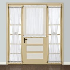 Beautiful United Curtain Co. Batiste Half Rod Pocket Door Curtain Single Panel For  The Front And Side Door