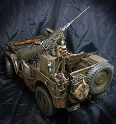 Willys Jeep by Serang Kim Jeep Willys, Military Jeep, Military Weapons, Army Vehicles, Armored Vehicles, Military Action Figures, Model Hobbies, Model Tanks, Toledo Ohio