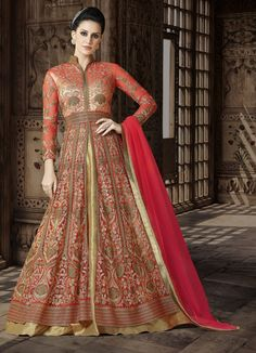 Looking to Buy Lehenga Online: Buy Indian lehenga choli online for brides at best price from Andaaz Fashion. Choose from a wide range of latest lehenga choli designs. Robe Anarkali, Costumes Anarkali, Long Choli Lehenga, Bridal Anarkali Suits, Lehenga Choli Online, Silk Lehenga, Designer Anarkali, Designer Salwar Suits, Designer Dresses