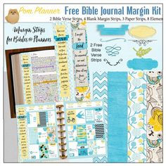 Free Bible Journaling Margin Kit With Two Verse Bookmarks Ready To Use In Your