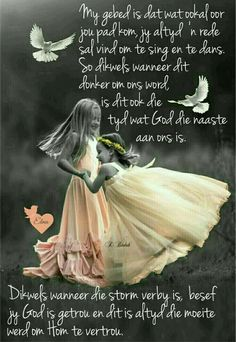 """""""God is getrou en dit is altyd die moeite werd om Hom te vertrou"""" Morning Inspirational Quotes, Good Morning Quotes, Bible Study Notebook, Mother Daughter Quotes, Afrikaanse Quotes, Scrapbook Quotes, Goeie Nag, Goeie More, Christian Messages"""