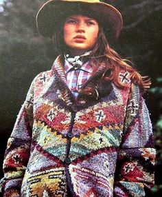 KATE MOSS STITCH Who has a copy Rowan Knitting design book We want to try and tackle some of these vintage patterns. How long do you think the Intarsia cardigan would take to knit, it would. Kate Moss, Queen Kate, Moss Stitch, Hand Knitting, Rowan Knitting, Knitting Patterns, Pulls, 90s Fashion, Bunt