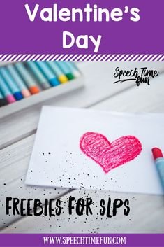 Valentine's Day freebies for speech and language therapy: work on WH questions, vocabulary, listening, and more!