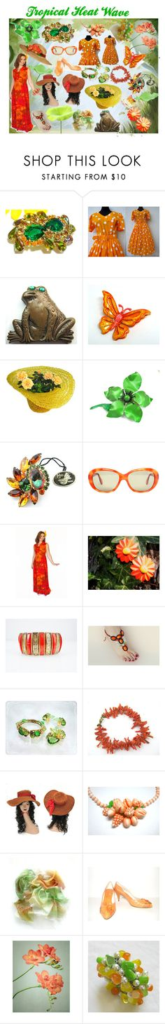 """""""Tropical Heat Wave"""" by brightgemsu ❤ liked on Polyvore featuring Retrò and vintage"""